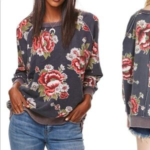 Free people Go on Get Floral sweater